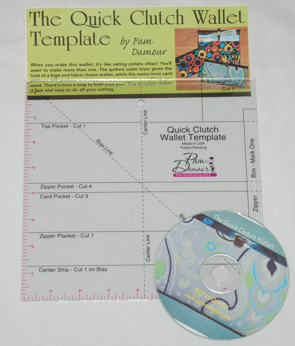 Quick and Small Clutch Wallet Template - Pam Damour | Pam Damour
